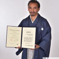祝卒業 チャドさん(卒業袴サムライ撮影)